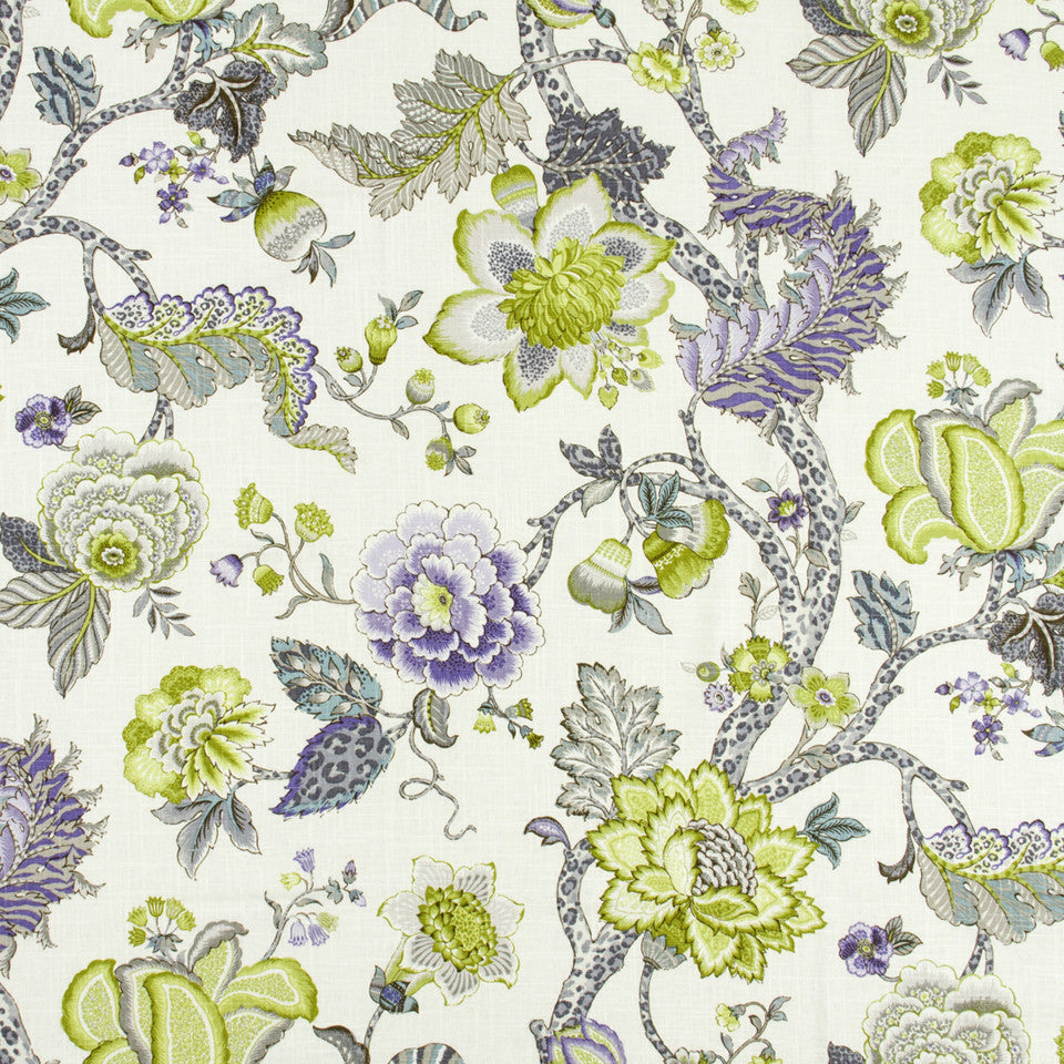 WISTERIA-IRIS-CHARTREUSE Lost Woods Fabric - Chartreuse