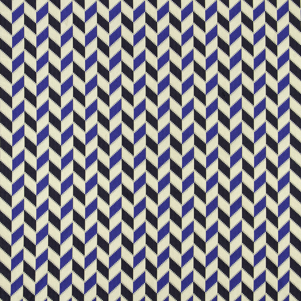 MALACHITE-ROYAL PURPLE-SLATE Chevron Stitch Fabric - Slate