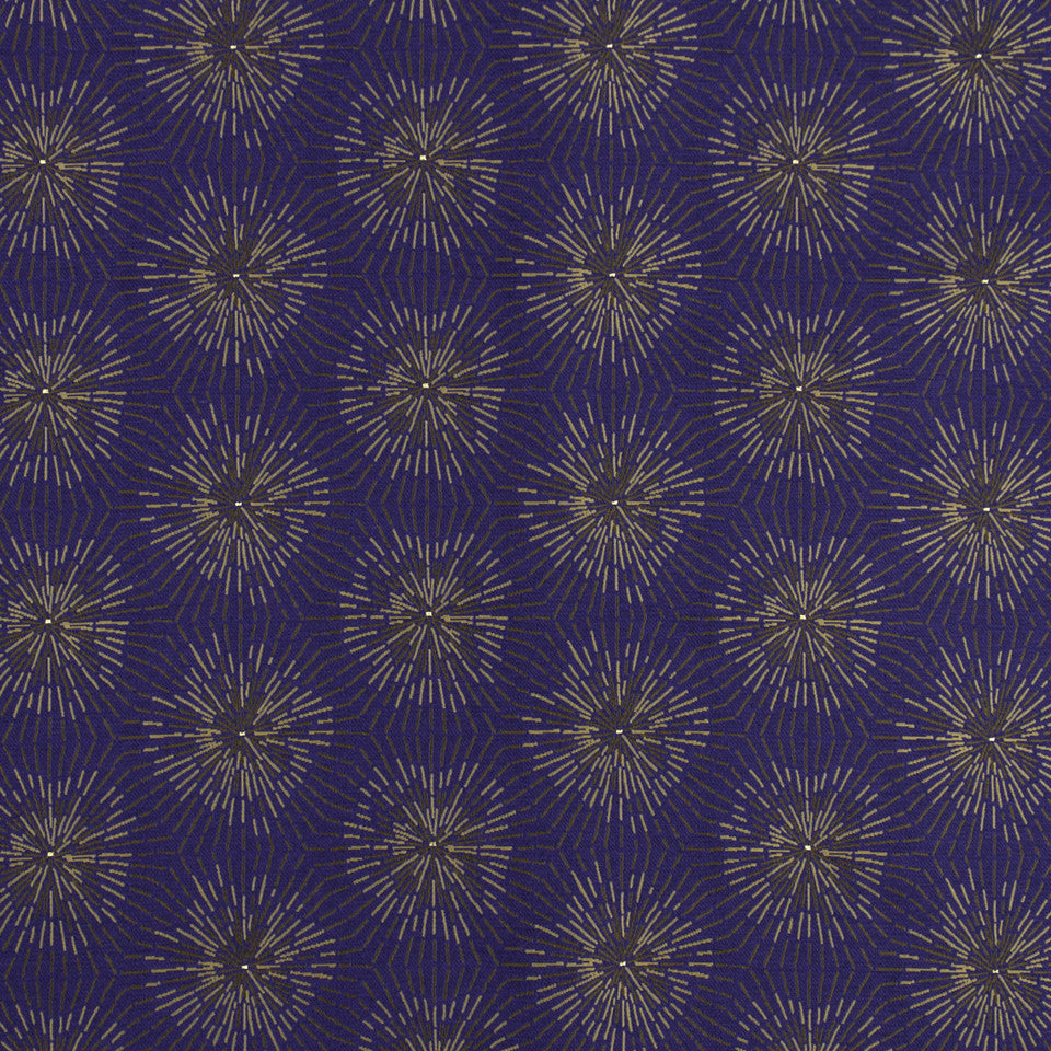 MALACHITE-ROYAL PURPLE-SLATE Glimmer Star Fabric - Royal Purple