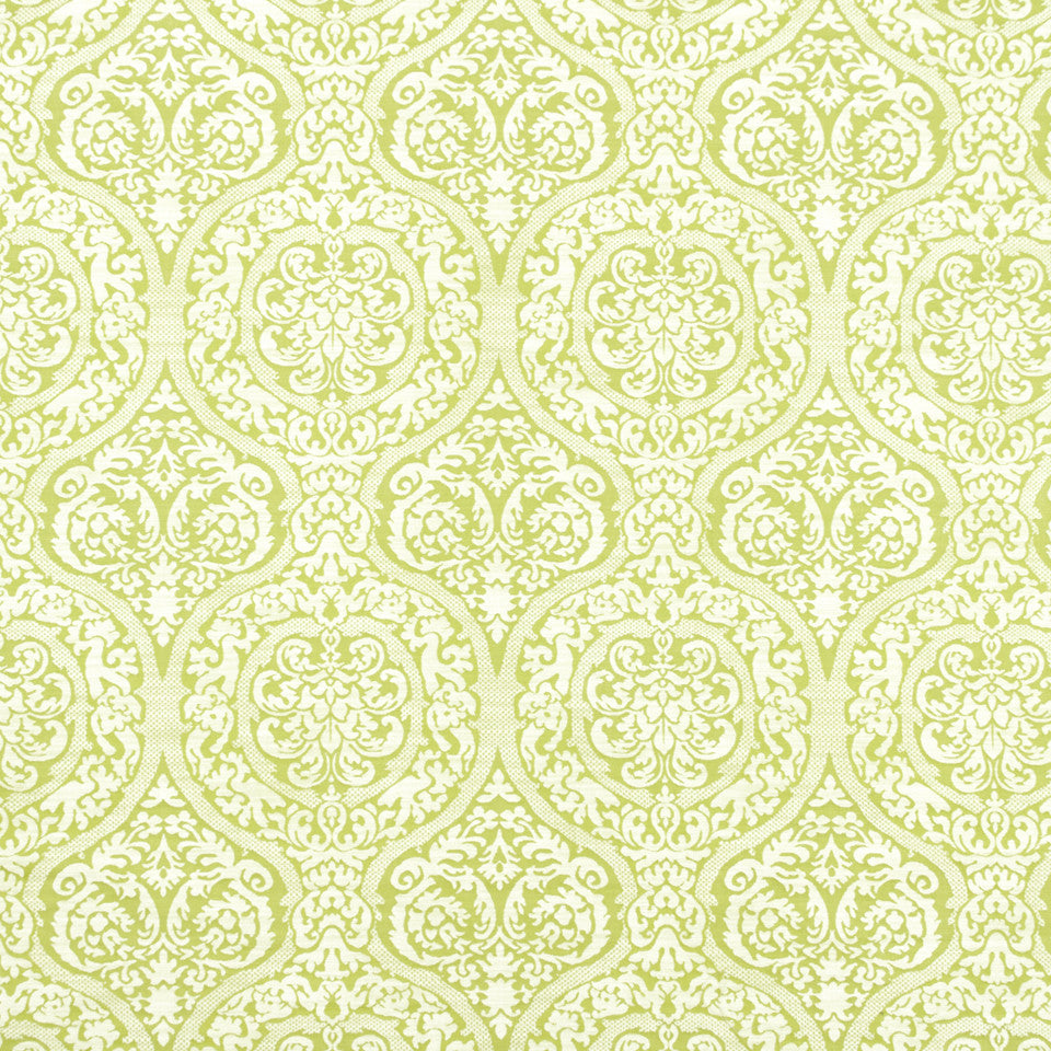 WISTERIA-IRIS-CHARTREUSE In A Trance Fabric - Chartreuse