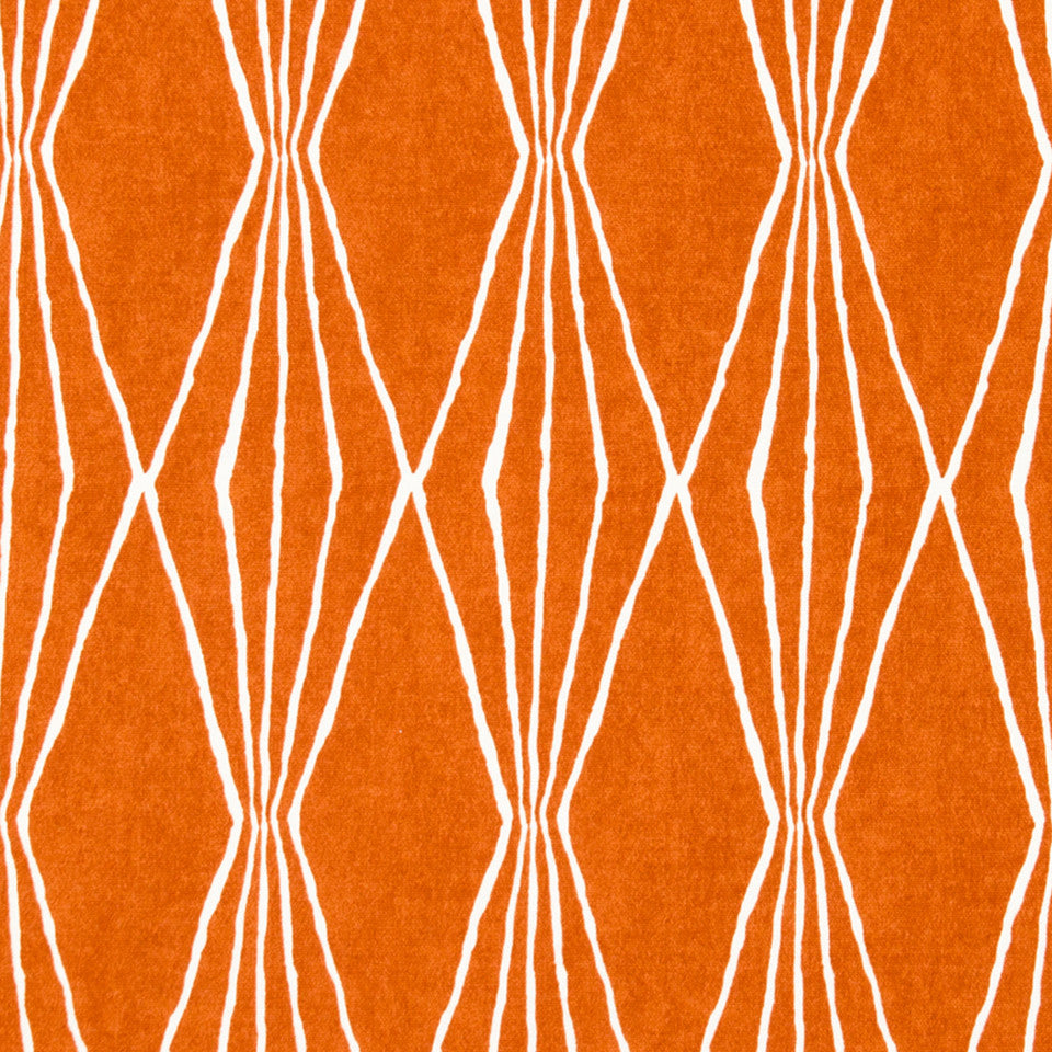 Handcut Shapes Fabric - Orange Crush