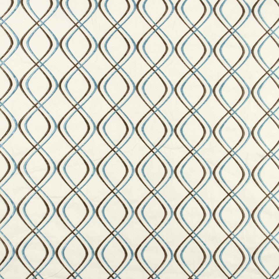 FOUNTAIN-DEW-SEA Sliding Lines Fabric - Sea