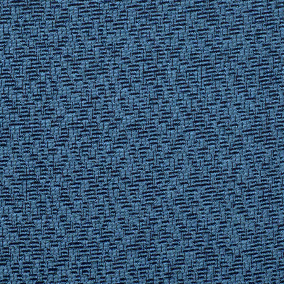 KIRK NIX ONE TEN WEST Game Changer Fabric - Cerulean