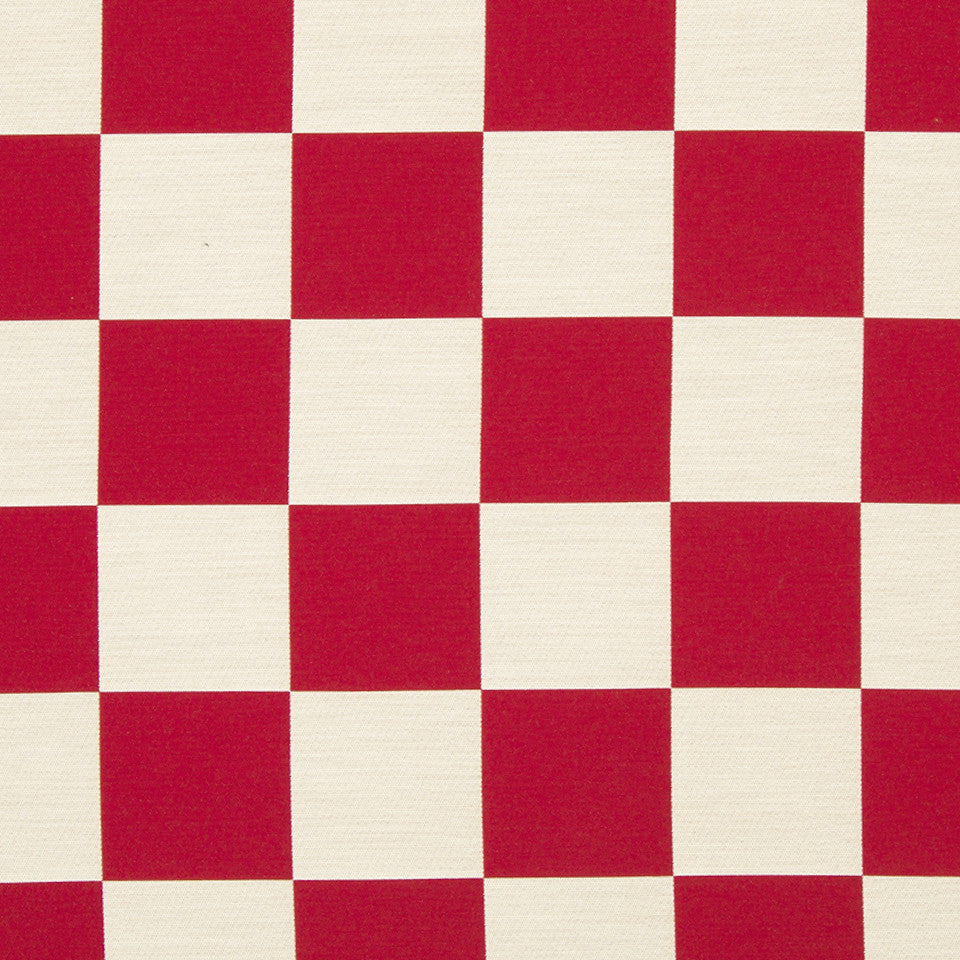 KIRK NIX ONE TEN WEST All In Check Fabric - Crimson