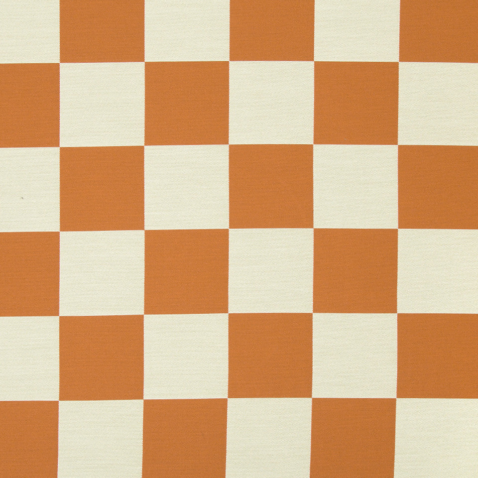 KIRK NIX ONE TEN WEST All In Check Fabric - Papaya