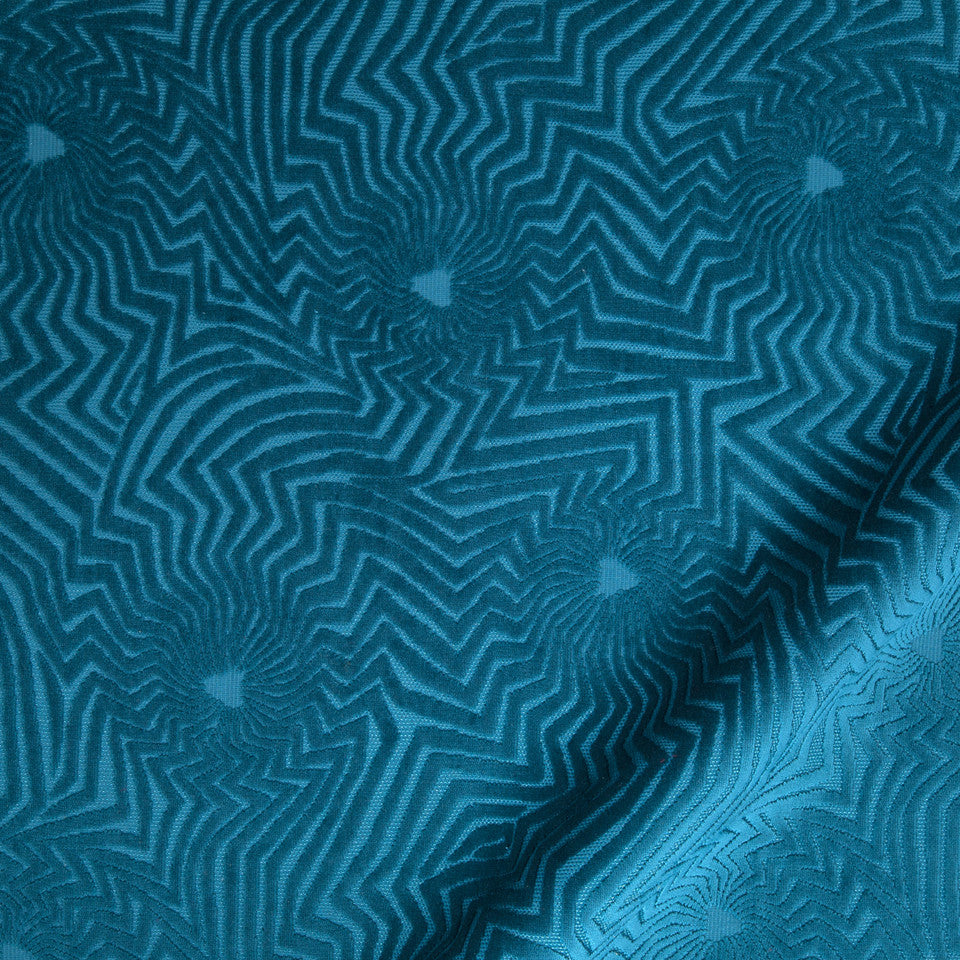 KIRK NIX ONE TEN WEST Star Sighting Fabric - Cerulean