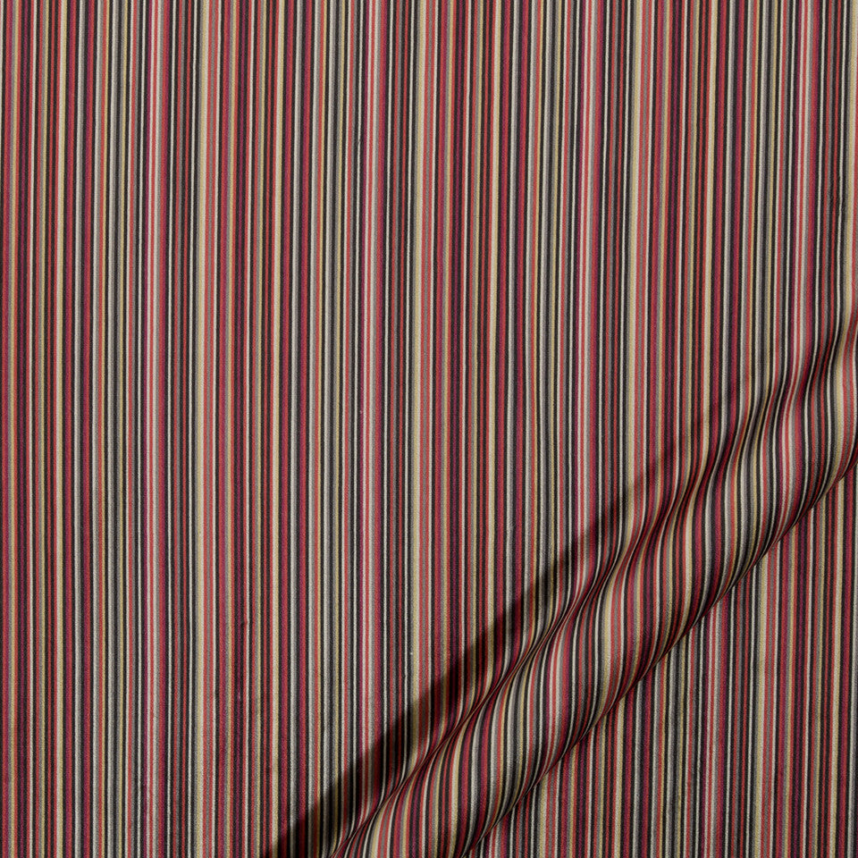 KIRK NIX ONE TEN WEST Between Lines Fabric - Crimson