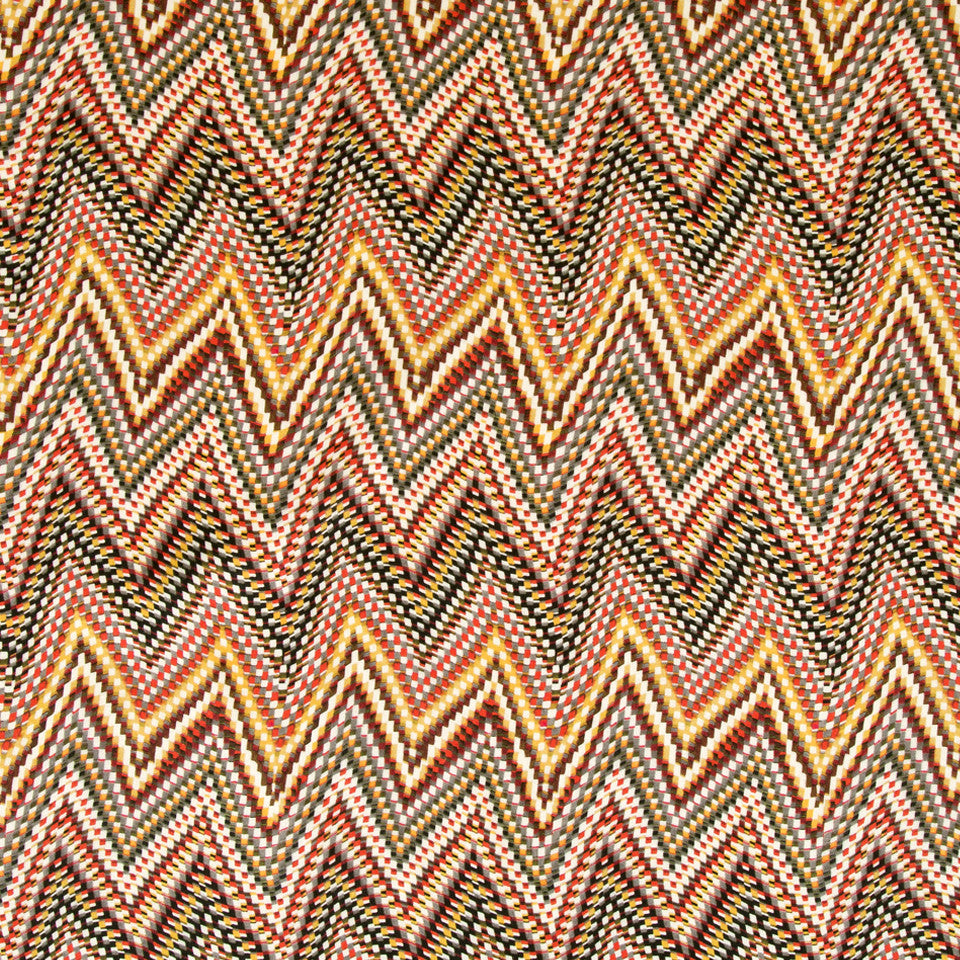 KIRK NIX ONE TEN WEST Electric Wave Fabric - Papaya