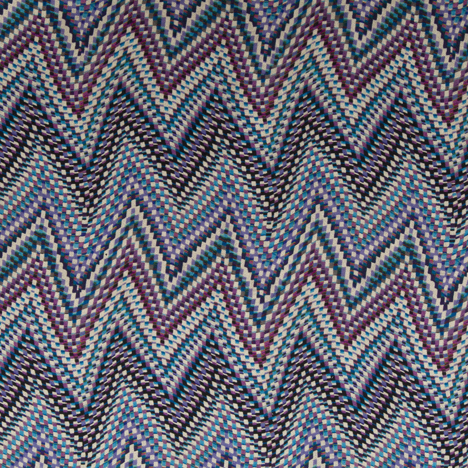 KIRK NIX ONE TEN WEST Electric Wave Fabric - Passion