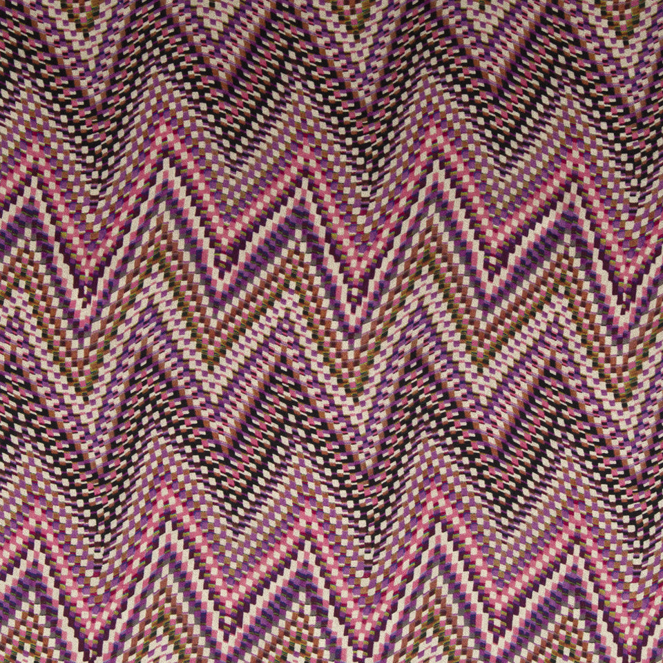 KIRK NIX ONE TEN WEST Electric Wave Fabric - Heartthrob