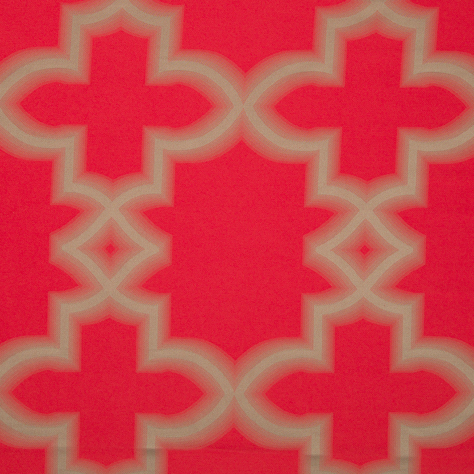 KIRK NIX ONE TEN WEST Blurred Lines Fabric - Crimson