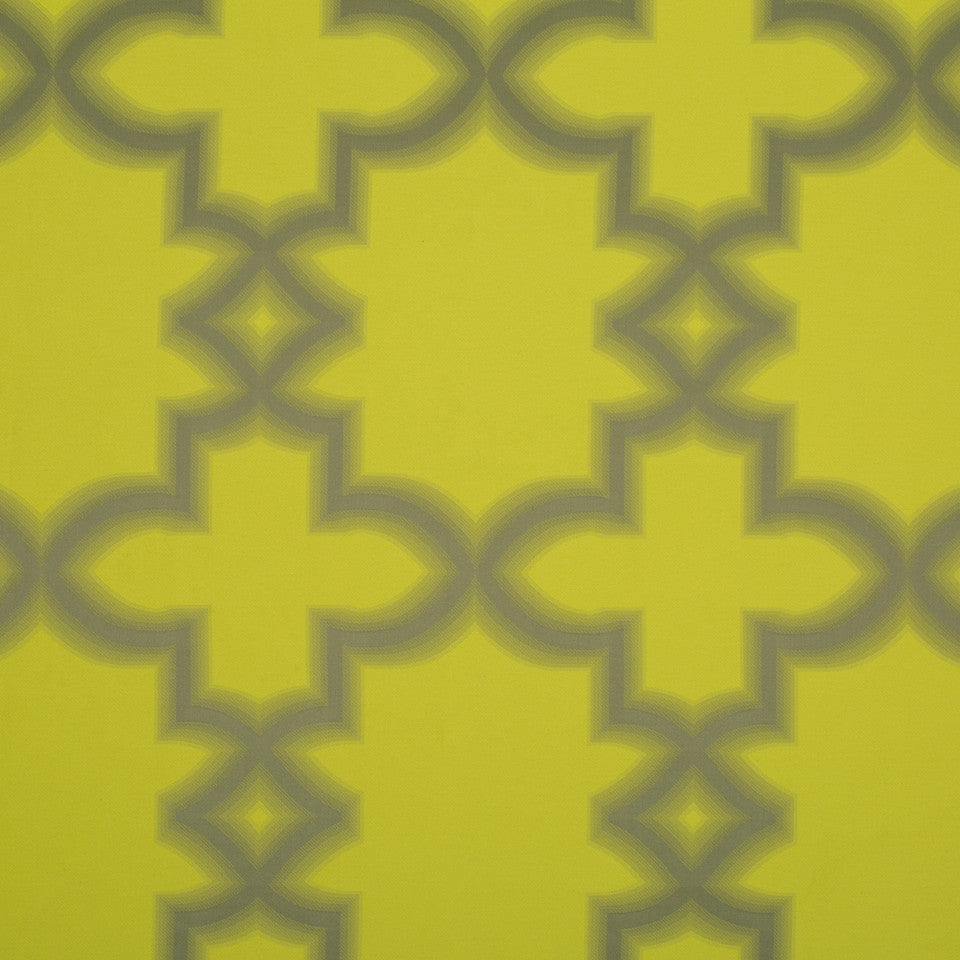 KIRK NIX ONE TEN WEST Blurred Lines Fabric - Citron