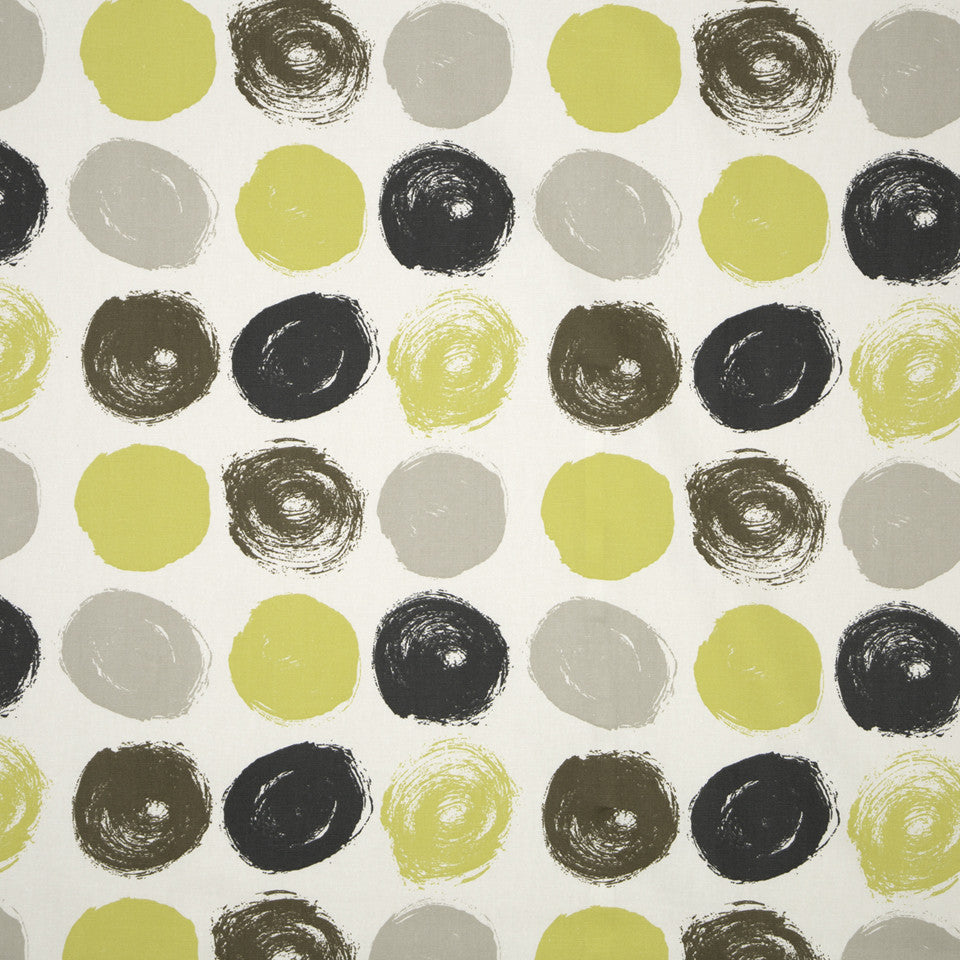 DWELLSTUDIO MODERN ARCHIVE Brushed Dot Fabric - Citrine