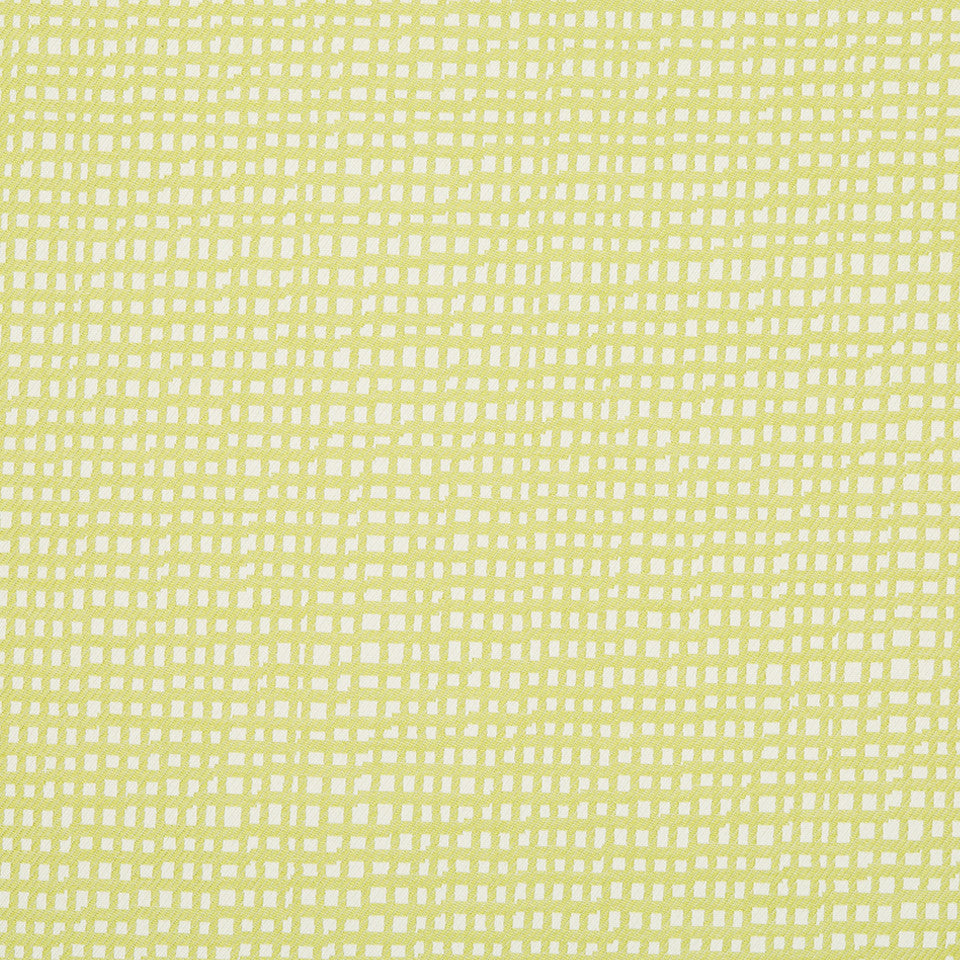 DWELLSTUDIO MODERN ARCHIVE Marlo Squares Fabric - Lime