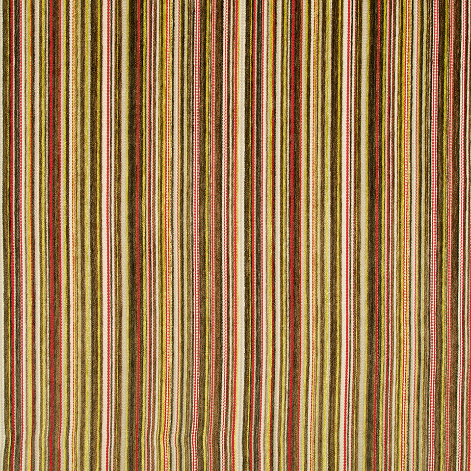 DWELLSTUDIO MODERN ARCHIVE Chroma Stripe Fabric - Poppy