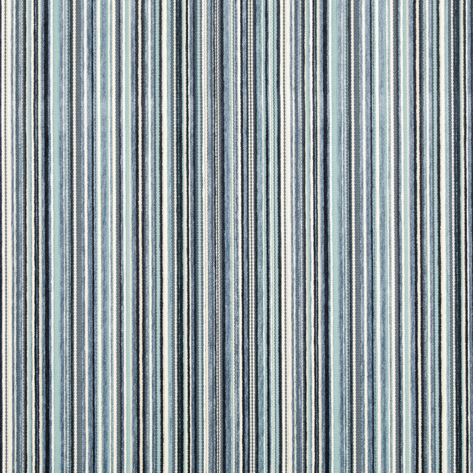 DWELLSTUDIO MODERN ARCHIVE Chroma Stripe Fabric - Admiral