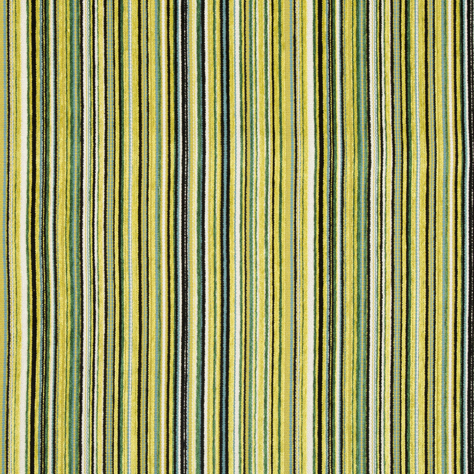 DWELLSTUDIO MODERN ARCHIVE Chroma Stripe Fabric - Lime