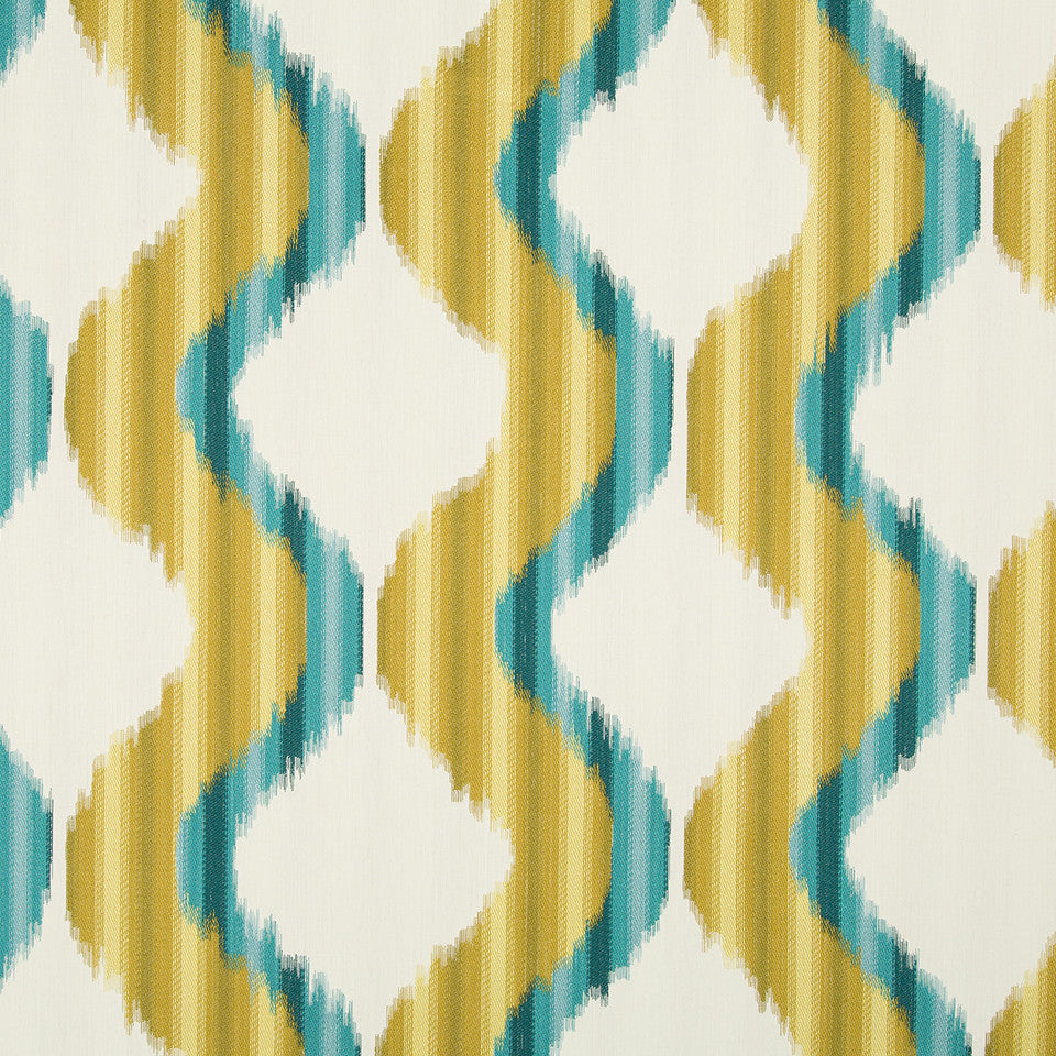 DWELLSTUDIO MODERN ARCHIVE Madras Fabric - Peacock