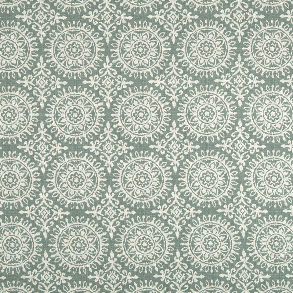 Suzani Strie Fabric - Rain
