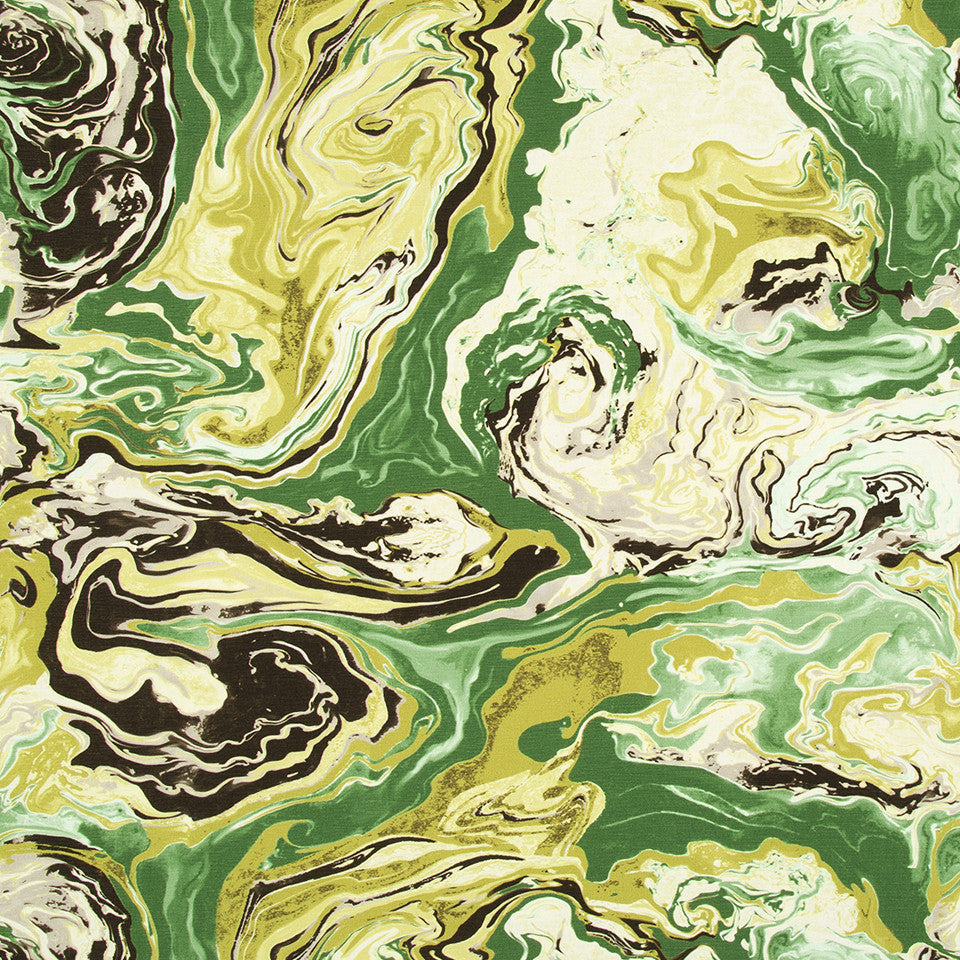 DWELLSTUDIO MODERN ARCHIVE Medici Marble Fabric - Malachite