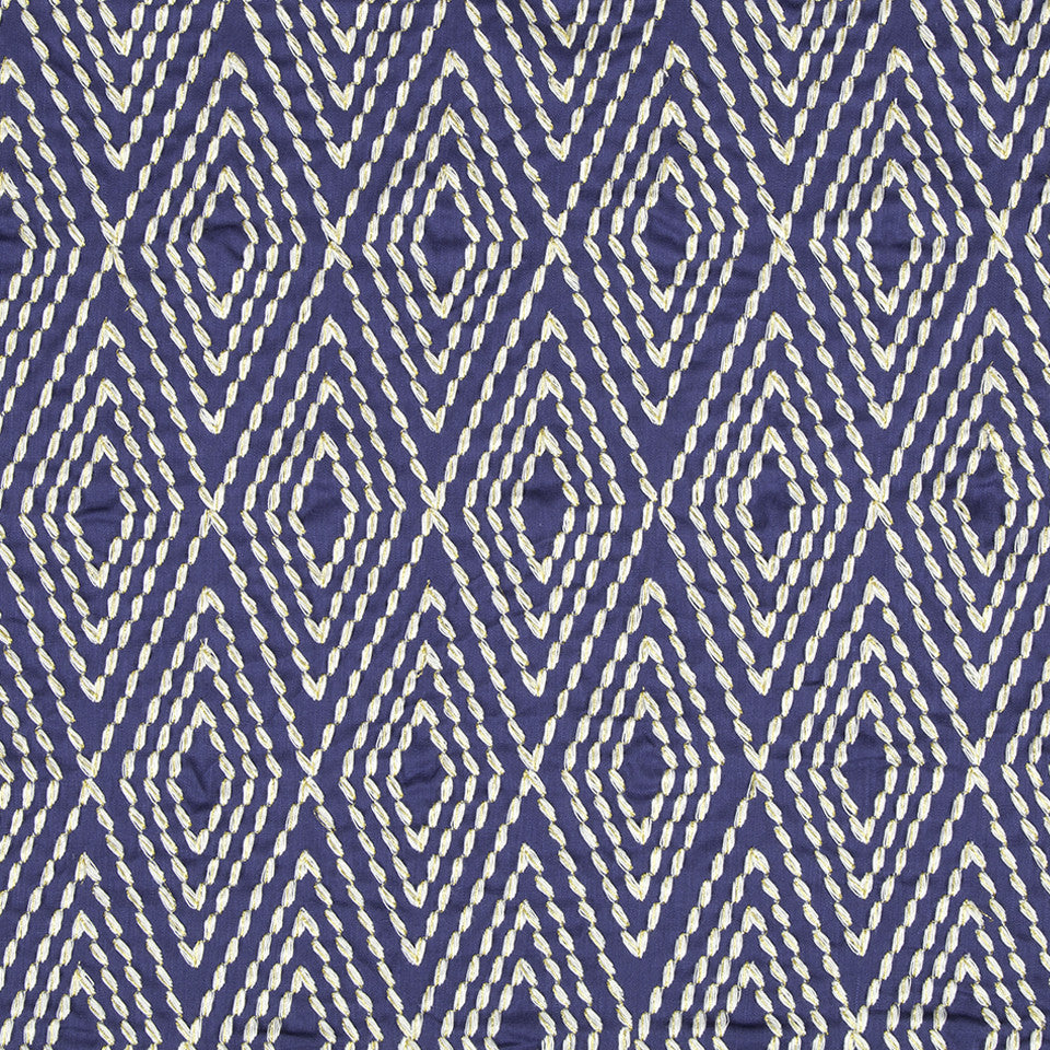 LARRY LASLO CHAMELEON Ancient Angle Fabric - Lapis