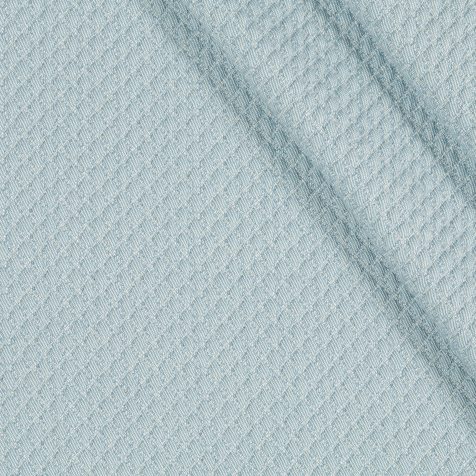 INDOOR/OUTDOOR Diamond Park Fabric - Robins Egg