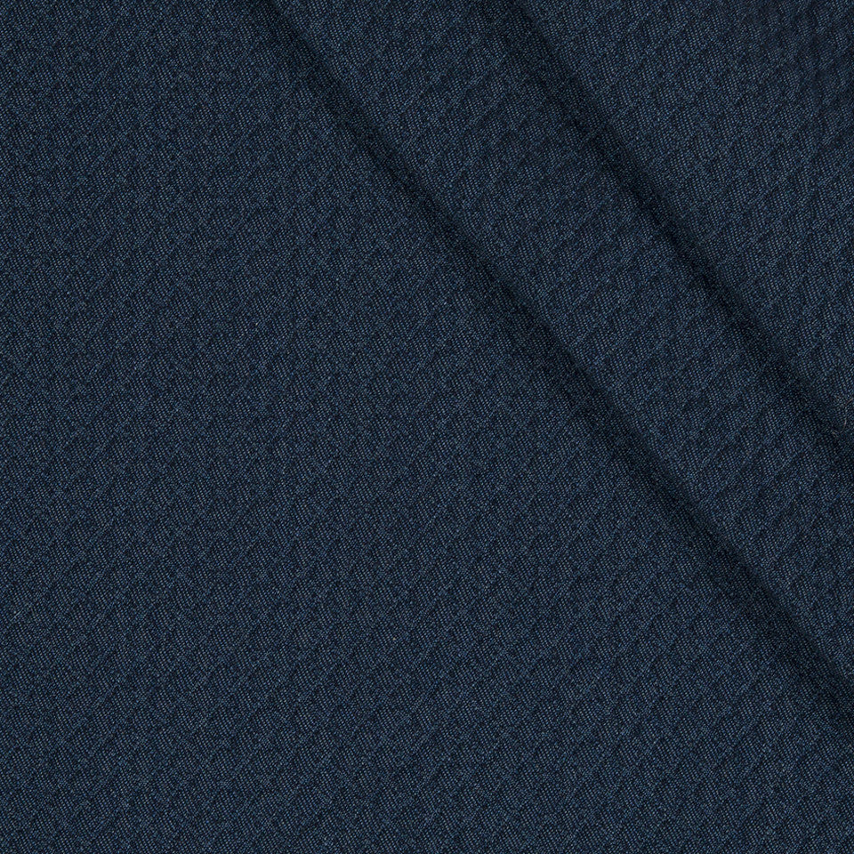 INDOOR/OUTDOOR Diamond Park Fabric - Navy Blazer