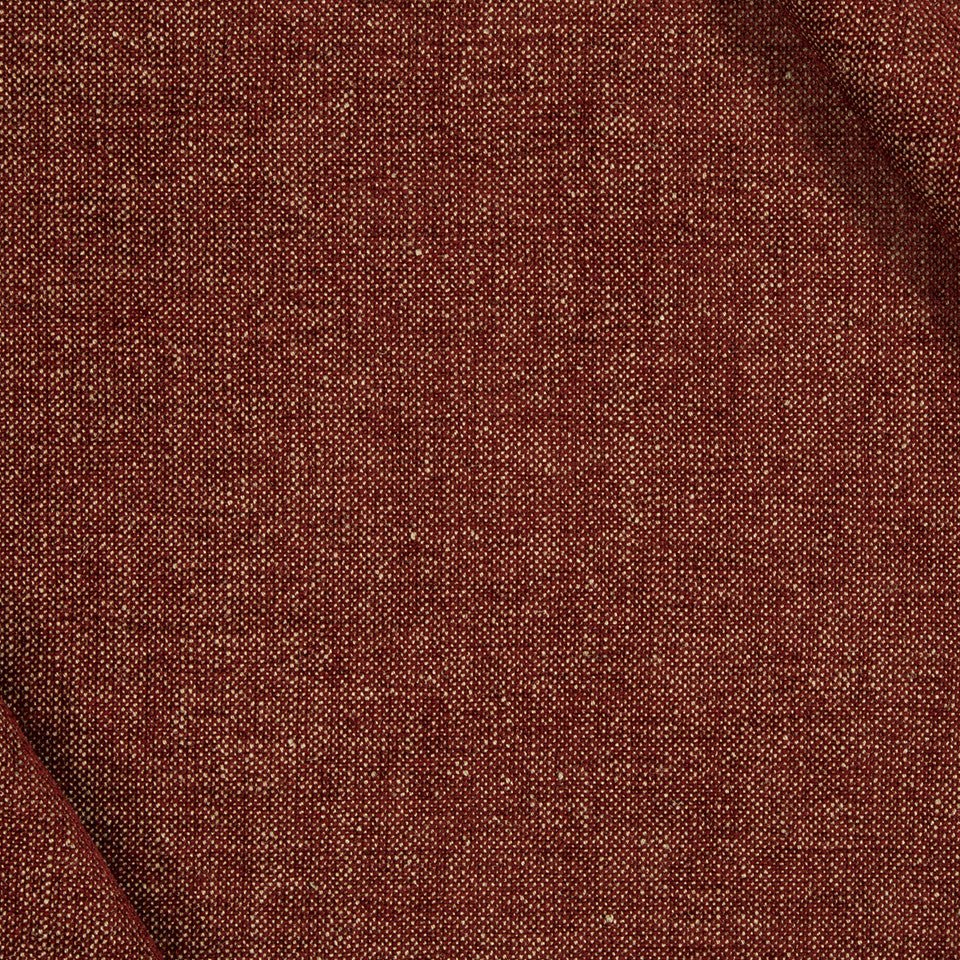 TONAL CHENILLES Jute Chenille Fabric - Red Hot