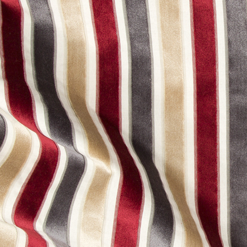 Neo Stripe Fabric - Currant