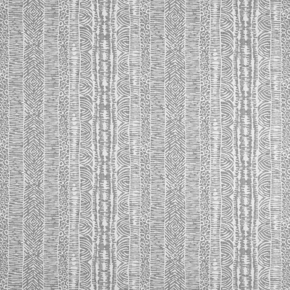 Global Lines Fabric - Greystone