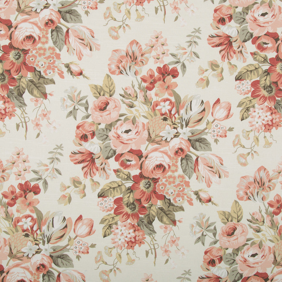 Medley Blooms Fabric - Blush