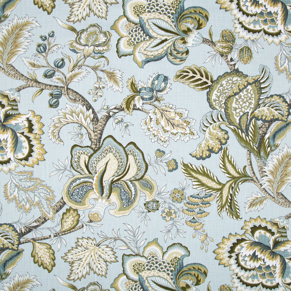 Jacobean Swag Fabric - Mineral