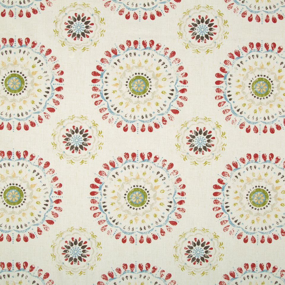 Color Wheel Fabric - Coral