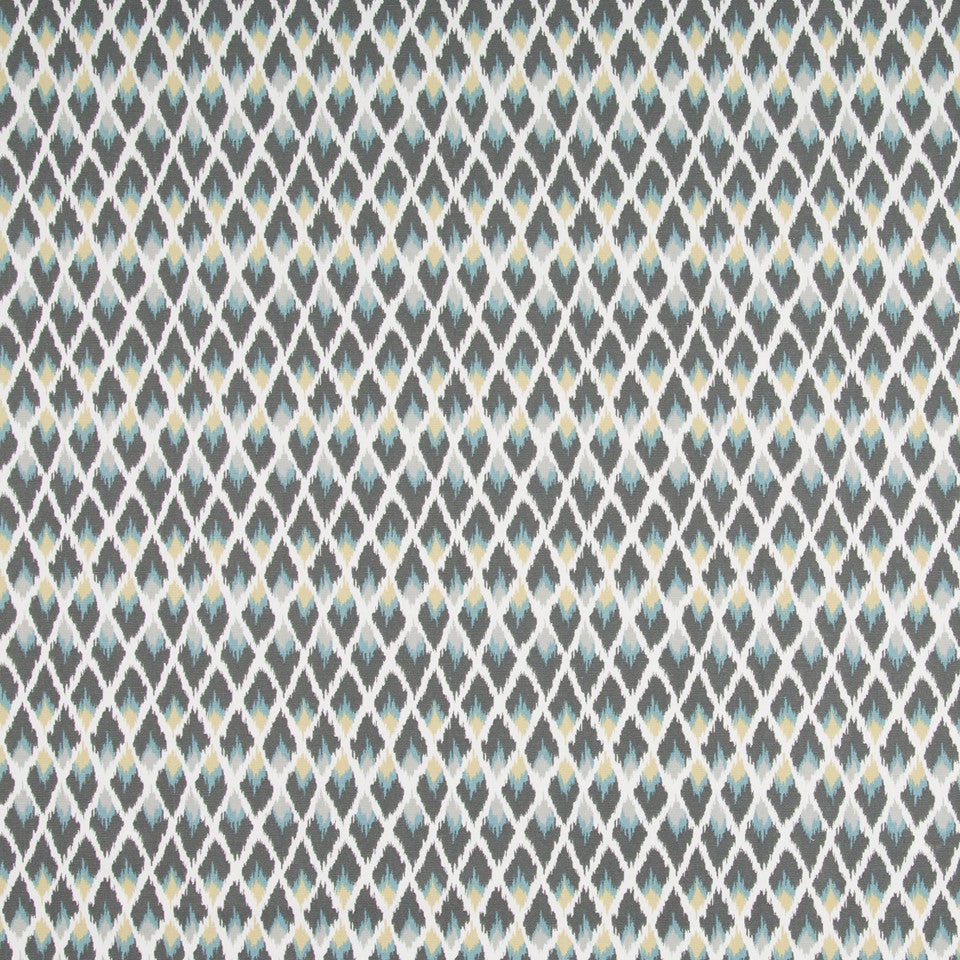 Posh Ikat Fabric - Rain
