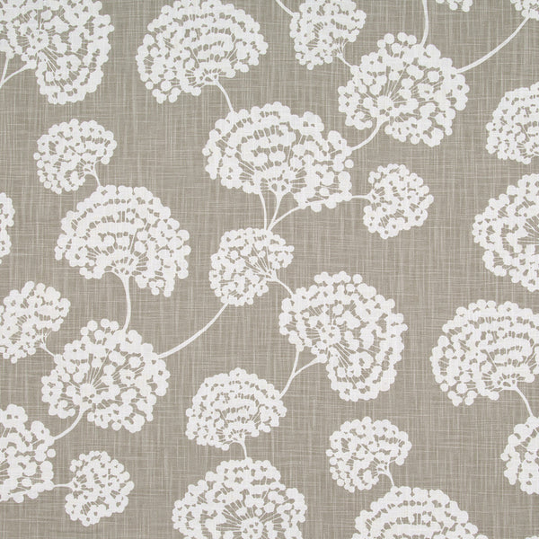 Toile Stems Fabric - Light Grey