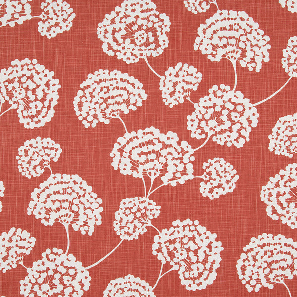 Toile Stems Fabric - Coral