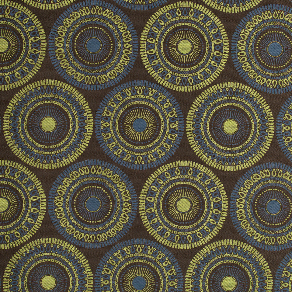 PERFORMANCE UPHOLSTERY/NANO-TEX  DURABLOCK/FAUX LEATHER Circle Art Fabric - Classic