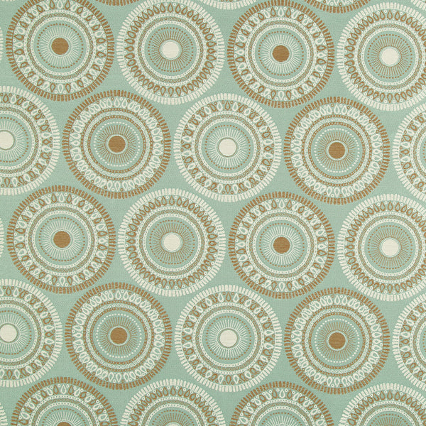 PERFORMANCE UPHOLSTERY/NANO-TEX  DURABLOCK/FAUX LEATHER Circle Art Fabric - Spa