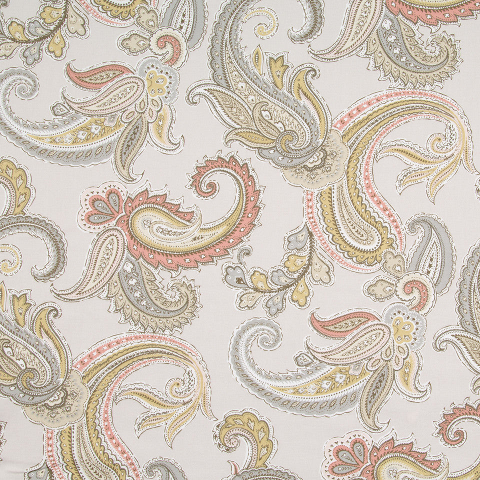 Global Paisley Fabric - Blush