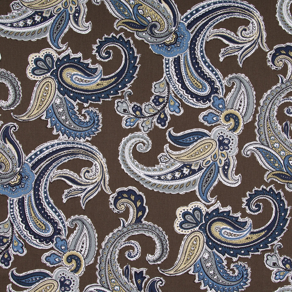 Global Paisley Fabric - Truffle