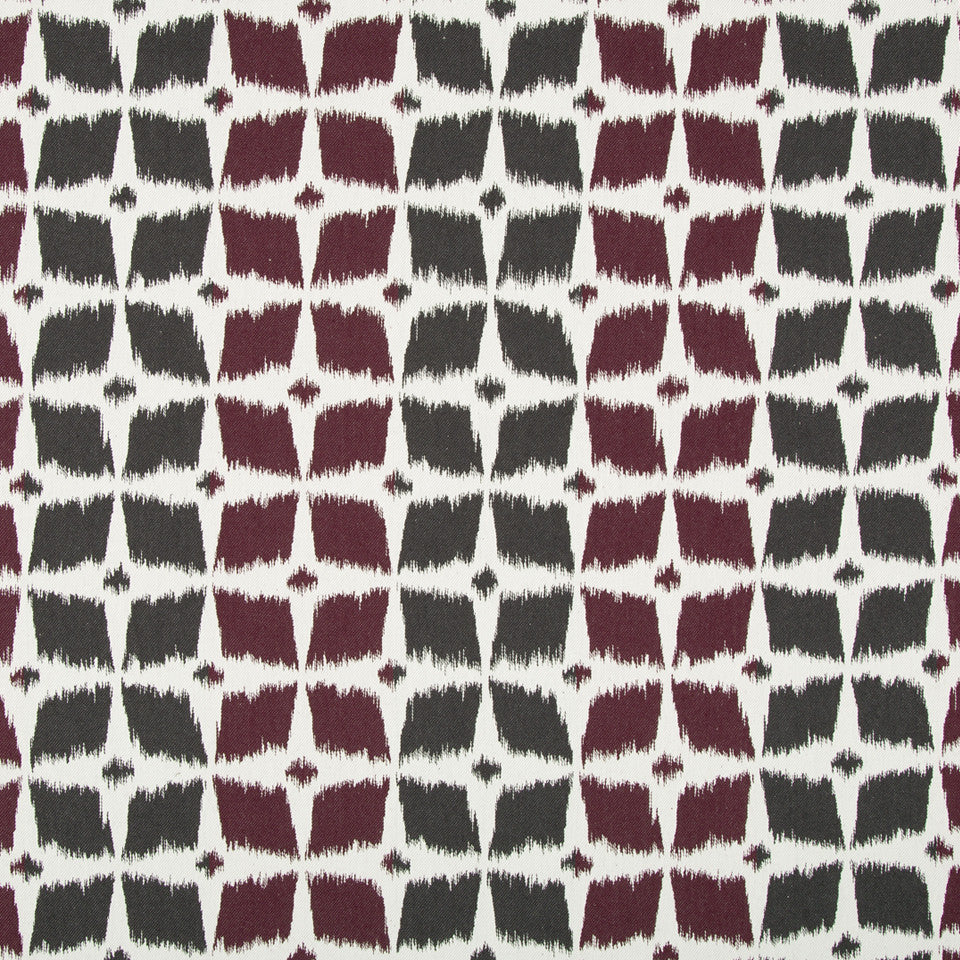 Neo Motif Fabric - Currant