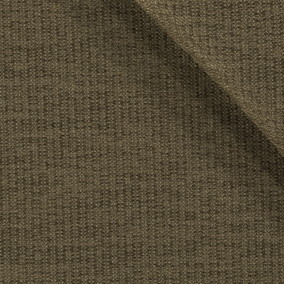 SOLID TEXTURES III Lustrous Rows Fabric - Truffle