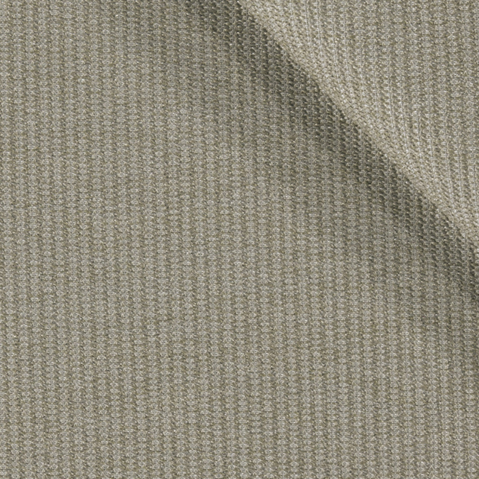 SOLID TEXTURES III Lustrous Rows Fabric - Platinum