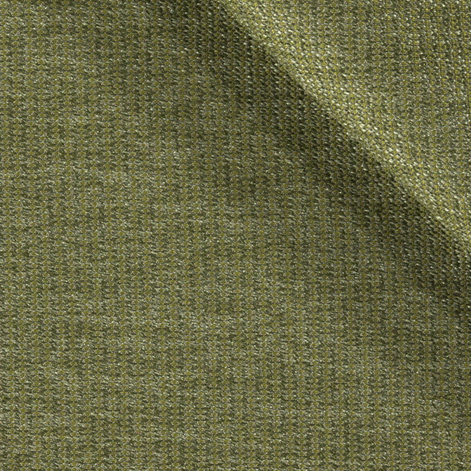 SOLID TEXTURES III Lustrous Rows Fabric - Kelp