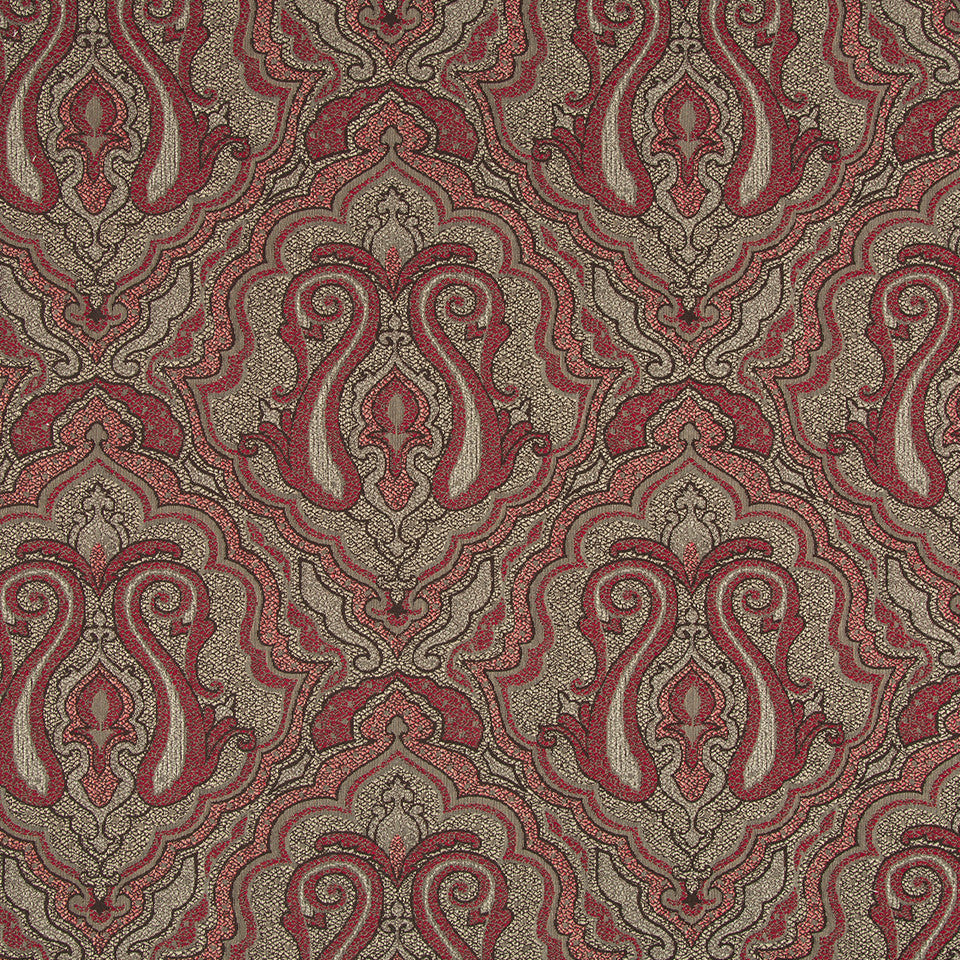 Worldly RR BK Fabric - Currant