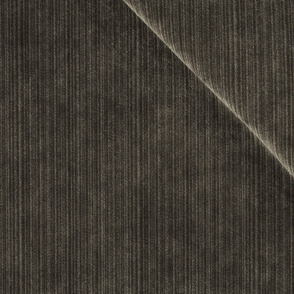 STRIE VELVETS Plush Strie Fabric - Graphite