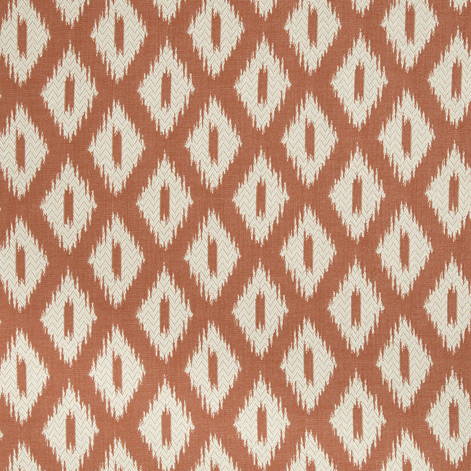 CORAL REEF Pointed Peaks Fabric - Coral Reef