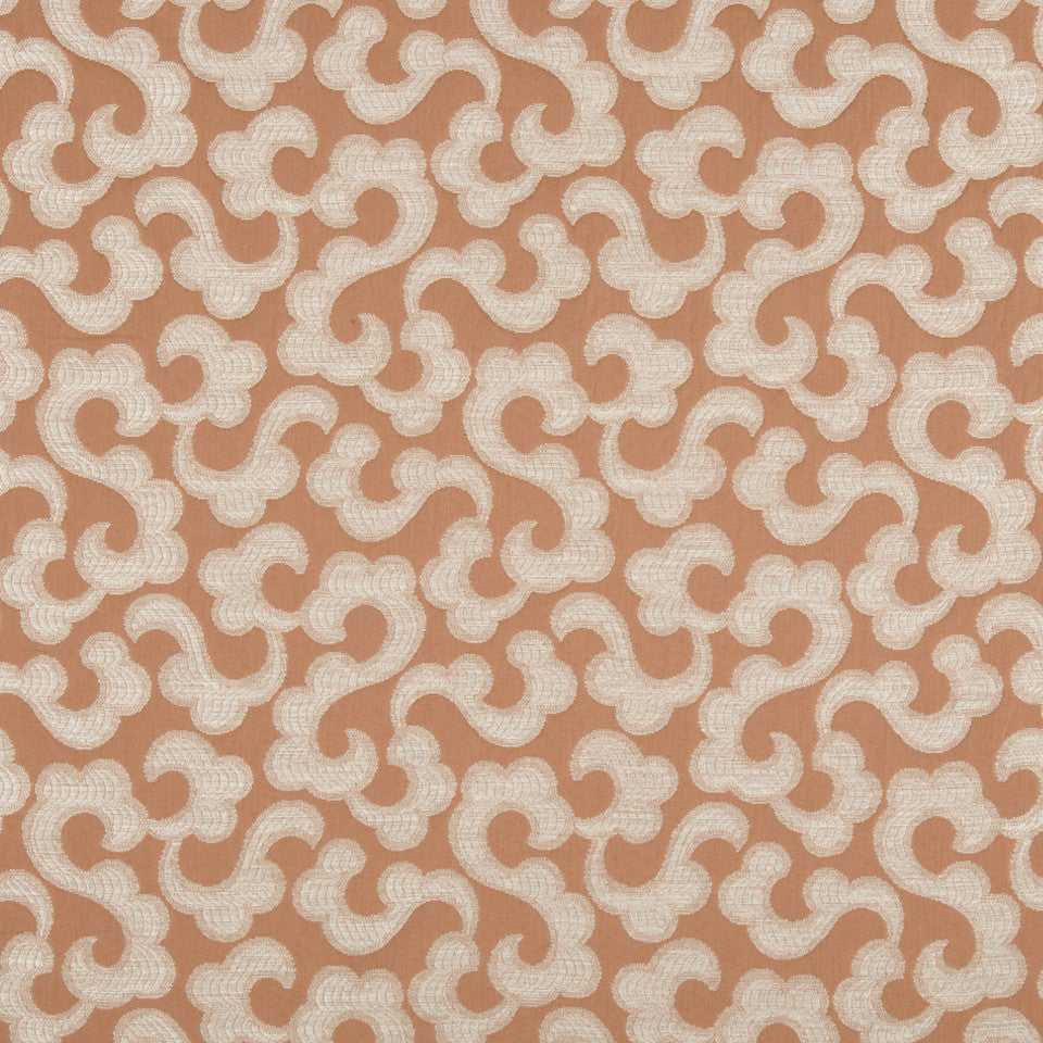 CORAL REEF Tranquil Flower Fabric - Coral Reef