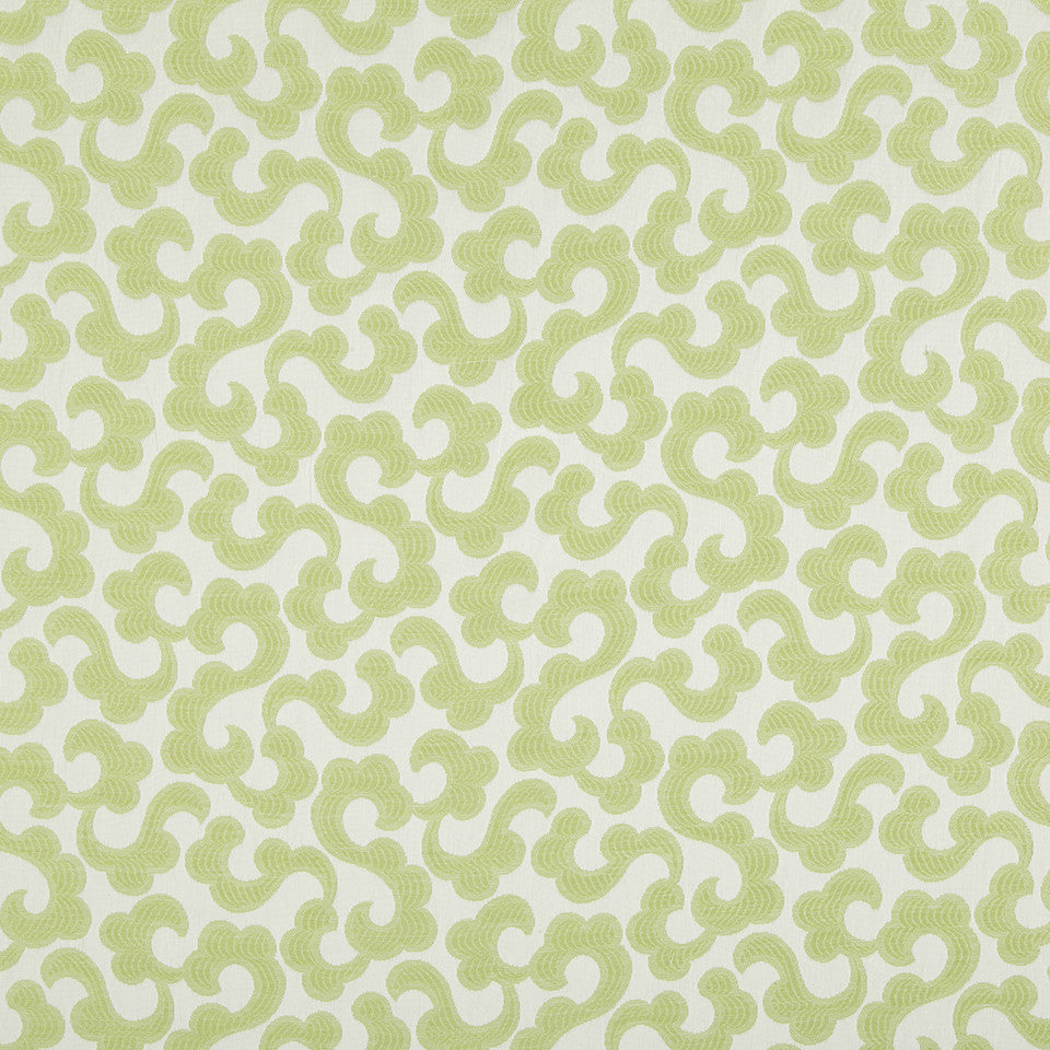 SPRING GRASS Tranquil Flower Fabric - Spring Grass