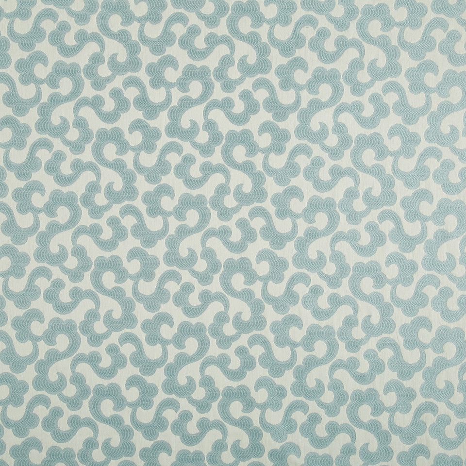 WATER Tranquil Flower Fabric - Water